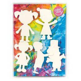 Personaggi magnetici da colorare calamite da frigo da colorare, set da 5
