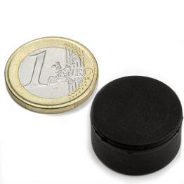 S-20-10-R Disco magnético de goma Ø 22 mm, alto 11,4 mm, impermeable, neodimio, N42
