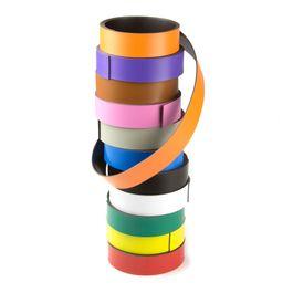 Gekleurd magneetband 20 mm om zelf te beschrijven en op maat te knippen, rollen à 1 m
