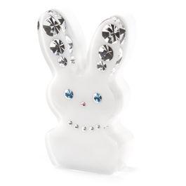 Diamond Rabbit koelkastmagneet haas, met Swarovski-kristallen