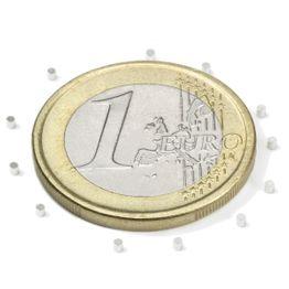 S-01-01-N Schijfmagneet Ø 1 mm, hoogte 1 mm, neodymium, N45, vernikkeld
