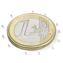 S-01-01-N Disc magnet Ø 1 mm, height 1 mm, holds approx. 31 g, neodymium, N45, nickel-plated