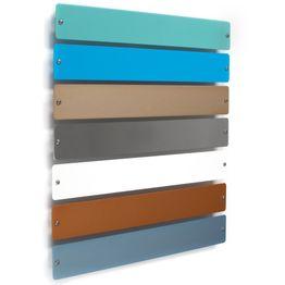 Barra metálica «Element Small» 35 cm base para adherir imanes, para atornillar, incluye 6 potentes imanes, en diferentes colores