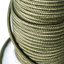 Polypropyleen touw 9 mm x 60 m voor het magneetvissen, olijfgroen, geen klimtouw!