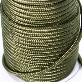 Polypropyleen touw 7 mm x 60 m voor het magneetvissen, olijfgroen, geen klimtouw!