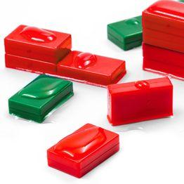 M-BLOCK-01 Bloques magnéticos con funda de plástico, sujeta aprox. 5,5 kg, impermeables, set de 5 uds., en diferentes colores