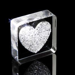 Diamond Heart Kühlschrankmagnet Herz, mit Swarovski-Kristallen