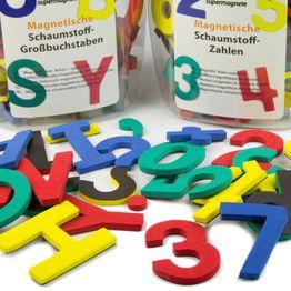 Buchstaben oder Zahlen magnetisch magnetisches Zeichen-Set, aus EVA-Schaum, 4 Farben gemischt