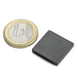FE-Q-20-20-03 Blokmagneet 20 x 20 x 3 mm, ferriet, Y35, zonder coating