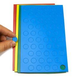Magnetische symbolen cirkel klein voor whiteboards & planborden, 50 symbolen per vel, in verschillende kleuren