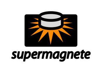 Het nieuwe logo van supermagnete