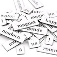 Words, syllables and punctuation marks, 510 pieces, available in various languages