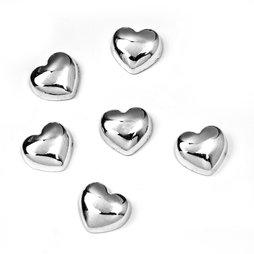 LIV-80, Sweetheart, metalen magneten in hartjesvorm, set van 6
