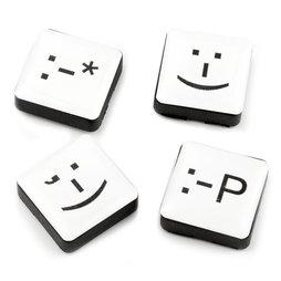 LIV-88, Emoticons, koelkastmagneten vierkant, set van 4