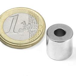 Ringmagneet Ø12/5mm, hoogte12mm