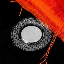 M-SEW-04, Innaaibare magneten 18 x 2 mm rond, met rond pvc hoesje