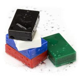 M-BLOCK-01, Blokmagneten met kunststof ommanteling, 5 stuks per set, div. kleuren