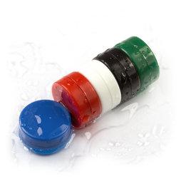 M-DISC-02, Schijfmagneten met kunststof ommanteling Ø 13,4 mm, 5 stuks per set, div. kleuren