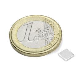 Q-CDM48-N, Blokmagneet 5 x 5 x 1 mm, neodymium, N48, vernikkeld