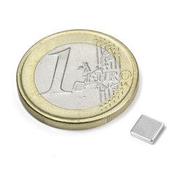 Q-CDM50-N, Blokmagneet 5 x 5 x 1,2 mm, neodymium, N50, vernikkeld