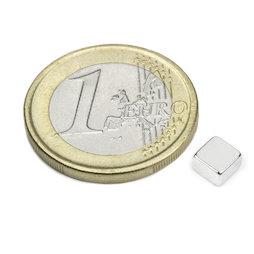 Q-05-05-03-N52N, Blokmagneet 5 x 5 x 3 mm, neodymium, N52, vernikkeld