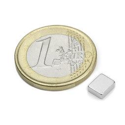 Q-06-05-02-HN, Blokmagneet 6 x 5 x 2 mm, neodymium, 48H, vernikkeld