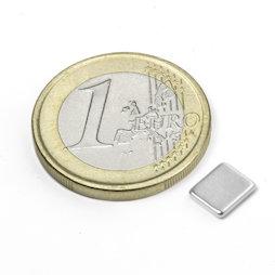 Q-07-06-1.2-N, Blokmagneet 7 x 6 x 1,2 mm, neodymium, N50, vernikkeld