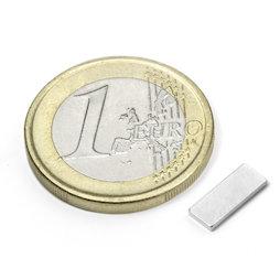Q-10-04-01-N, Blokmagneet 10 x 4 x 1 mm, neodymium, N50, vernikkeld