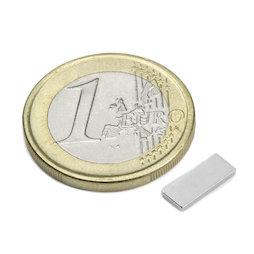 Q-10-04-1.2-N, Blokmagneet 10 x 4 x 1,2 mm, neodymium, N50, vernikkeld