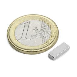 Q-10-04-02-N, Blokmagneet 10 x 4 x 2 mm, neodymium, N50, vernikkeld