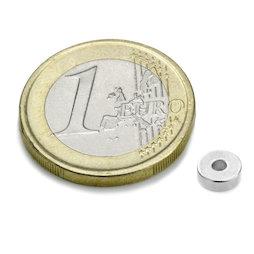 R-06-02-02-N, Ring magnet Ø 6/2 mm, height 2 mm, neodymium, N45, nickel-plated