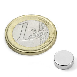 S-09-03-N52N, Disco magnetico Ø 9 mm, altezza 3 mm, neodimio, N52, nichelato