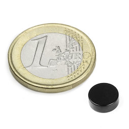 S-08-03-E, Schijfmagneet Ø 8 mm, hoogte 3 mm, neodymium, N45, epoxy coating