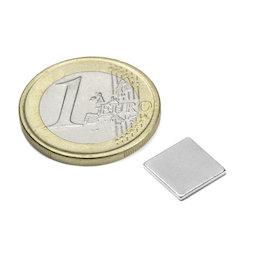 Q-10-10-01-N, Blokmagneet 10 x 10 x 1 mm, neodymium, N42, vernikkeld