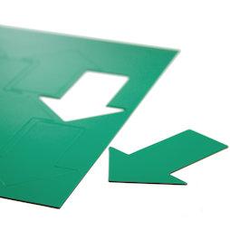 BA-014AR/green, Magnetische symbolen pijl groot, voor whiteboards & planborden, 8 symbolen per A4-blad, groen