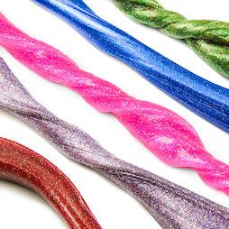 M-PUTTY-GLITTER, Intelligent putty Glitter, met glitter, verschillende kleuren, niet magnetisch!