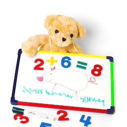 KMWB-2435, Kinderwhiteboard 24 x 35 cm, om te tekenen, spelen, schrijven & leren, magnetisch