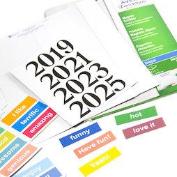 MIP-A4-03, Magneetbordjes om te printen, A4-vellen met voorgeperforeerde bordjes, met inkjet printer te bedrukken, om metalen rekken, whiteboards enz. te etiketteren