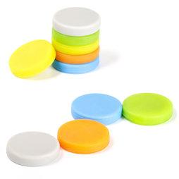 M-95, Magneten met siliconen coating, hechten aan beide kanten, set van 10, kleurassortiment