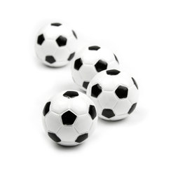Deco magnets in the shape of a football, Set of 4