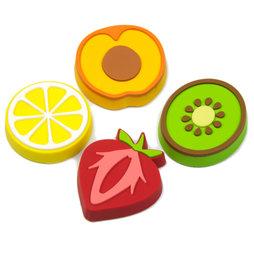 LIV-50, Fruity, decoratiemagneten in de vorm van vruchten, set van 4