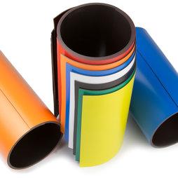 MT-150, Gekleurd magneetband 150 mm, om zelf te beschrijven en op maat te knippen, rollen à 1 m