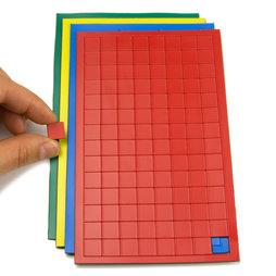 BA-012S, Magnetische symbolen vierkant klein, voor whiteboards & planborden, 112 symbolen per vel, in verschillende kleuren
